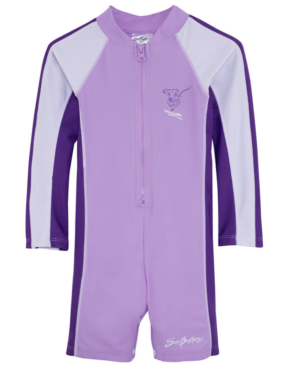 UV50+ Long Sleeve Sunsuit-Mimosa Purple