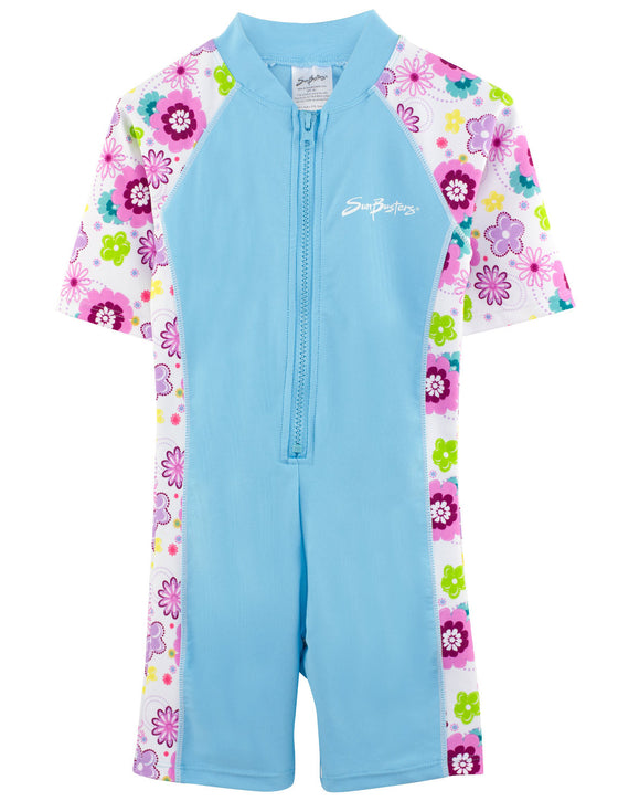 UV50+ Short Sleeve Sunsuit-Mallowberry