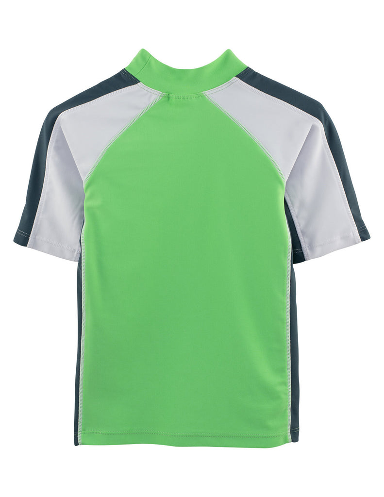 UV50+ Short Sleeve Swim Shirt-Mantis Green -Chlorine Resistant