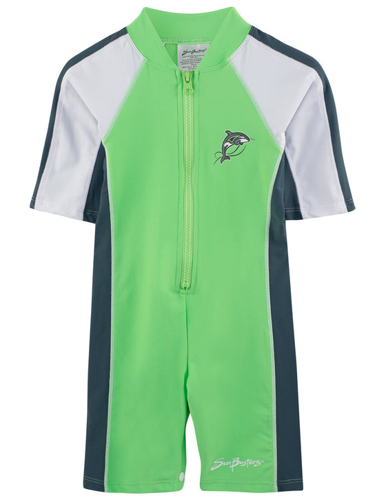 UV50+ Short Sleeve All-In One Sunsuit-Mantis Green