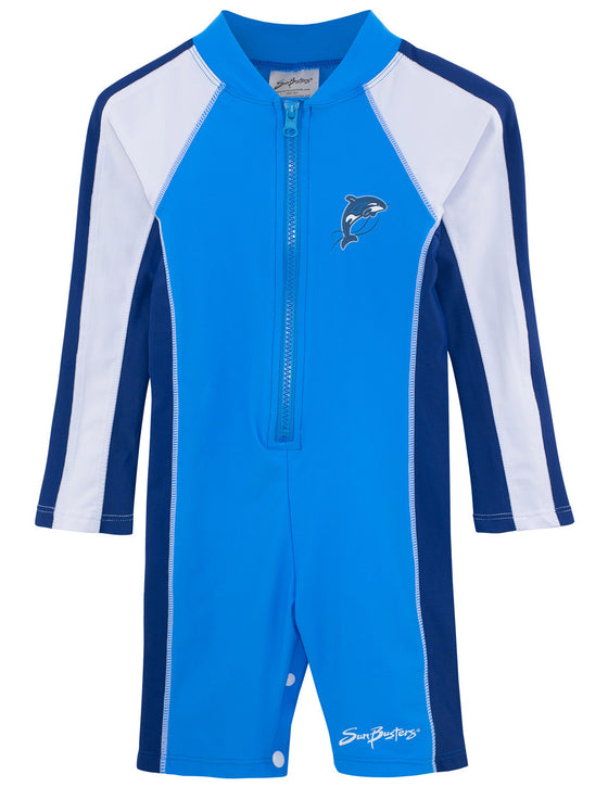 UV50+ All-In-One Long Sleeve Sunsuit-Splash Aqua