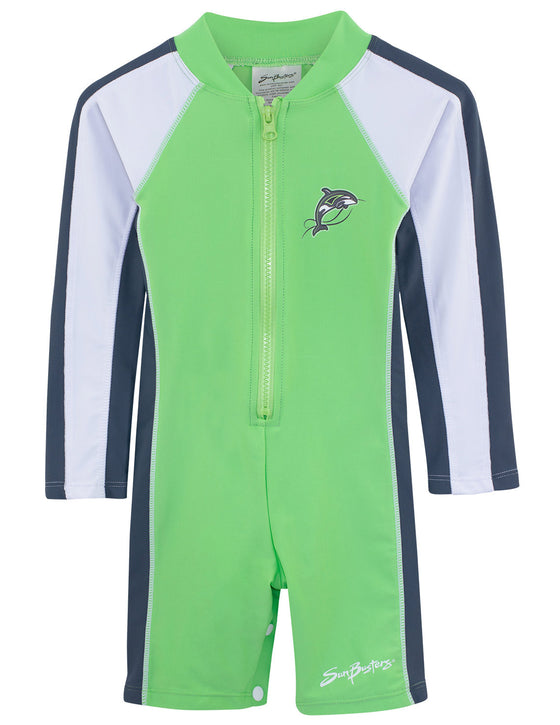 UV50+ All-In-One Long Sleeve Sunsuit-Mantis Green
