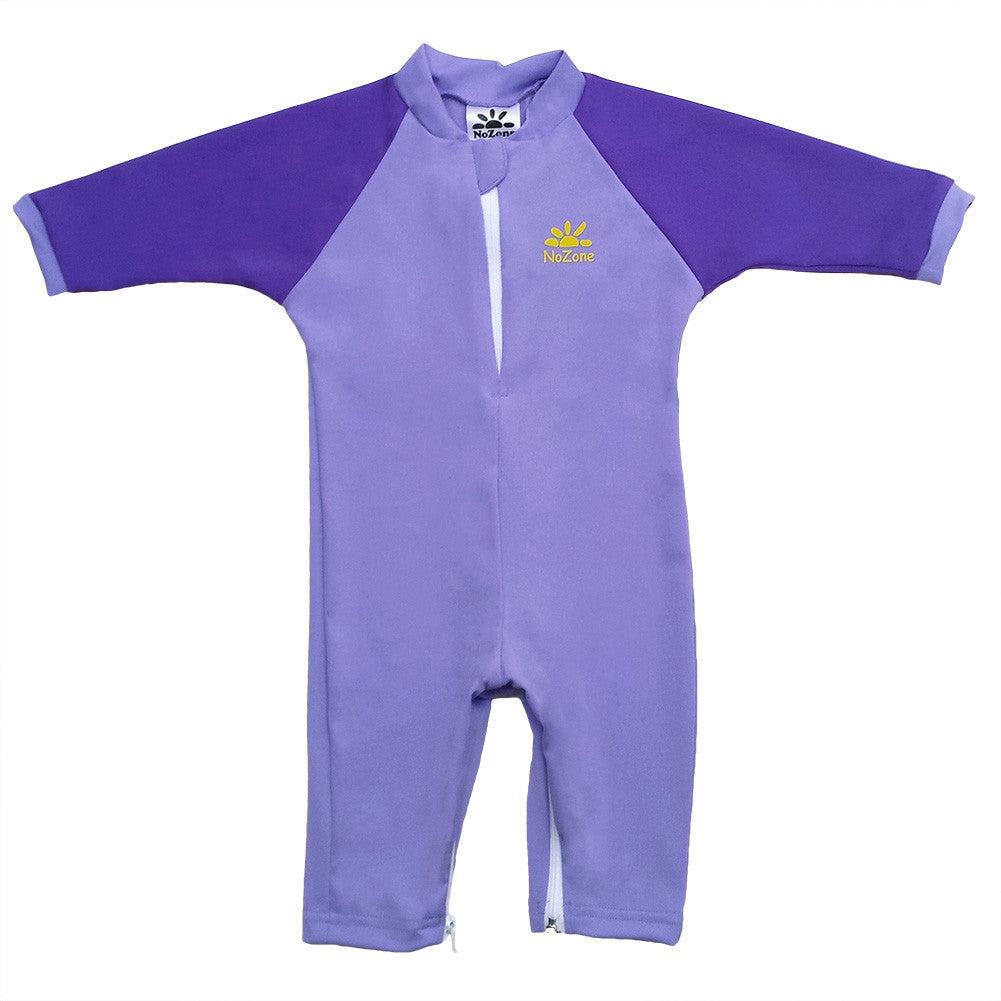 UV50+ Full Sun Coverage Wrist to Ankle Baby & Toddler Sunsuit-Purple/Violet