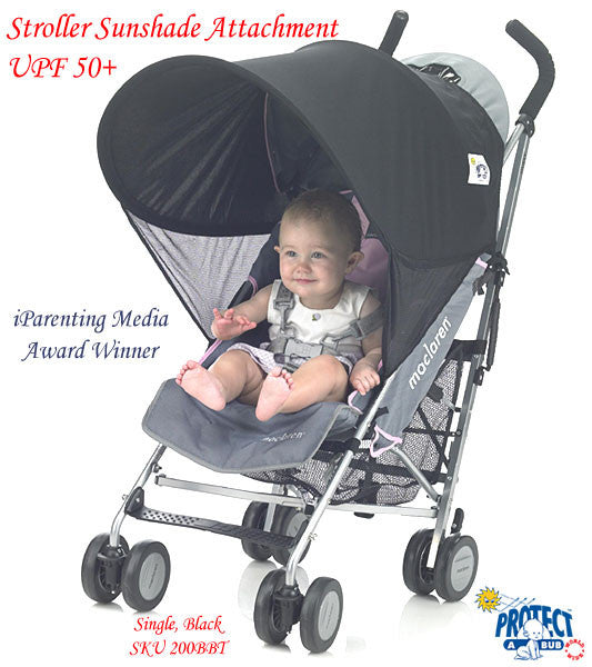 UV50+ SINGLE Stroller & TANDEM Stroller Sunshade Attachment