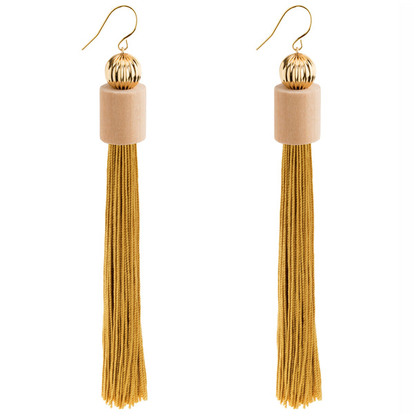 Apollo Geometric Tassel Earrings