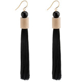 Apollo Beaded Tassel Earrings