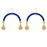 Comet Half Moon Rope Earrings