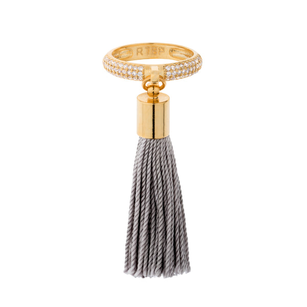 Eclipse Gold Pave Tassel Ring