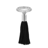 Eclipse Silver Tassel Charm Ring