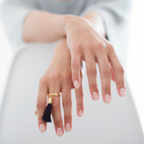 Eclipse Gold Tassel Charm Ring