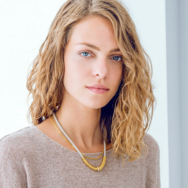 Delicate Double Strand Cord Necklace