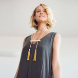 Nova Adjustable Tassel Necklace