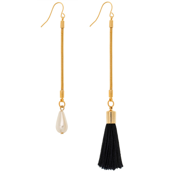 Norma Asymmetrical Tassel Earrings