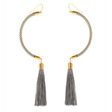 Rocket Moon Shaped Tassel Earrings