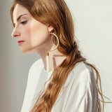 Moon Shaped Tassel Earrings