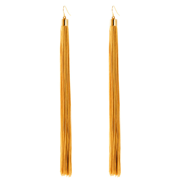 Vega Long Tassel Earrings
