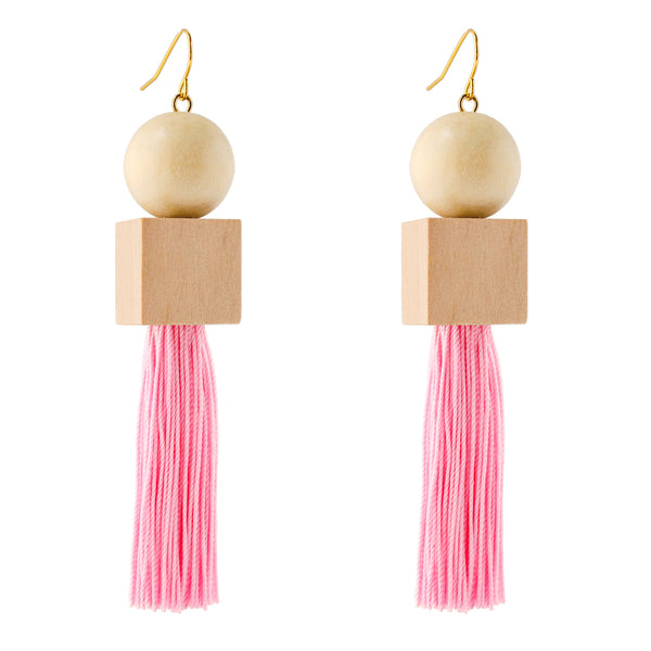 Geometric Tassel Earrings