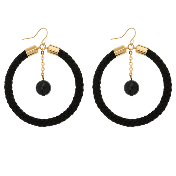 Galaxia Hoop Cord Earrings