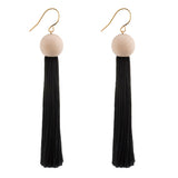 Venus Geometric Tassel Earrings