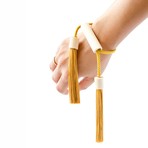 Adjustable Double Tassel Bracelet