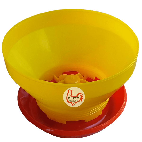 Bulk chick feeder Elite Poultry Equipment