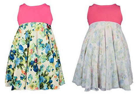 'Forever Blossoms' Spin Dress - Reversible