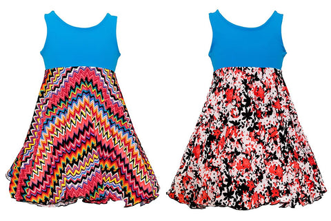 'Rainbow Rosie' Spin Dress - Reversible