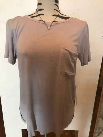 Another Love Light Mocha Pocket Tee
