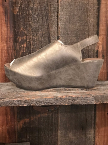 Corky's College Brushed Gold Wedge Sandal