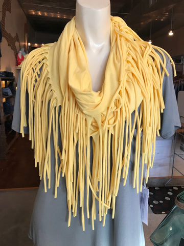 Baby Yellow Fringe Eternity Scarf