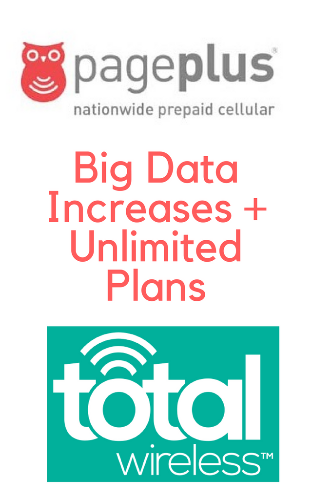 Total Wireless Family Plans Get A BIG Boost in Data for Fall 2017 And Pageplus Cellular Prepaid Plans Get Unlimited Data!