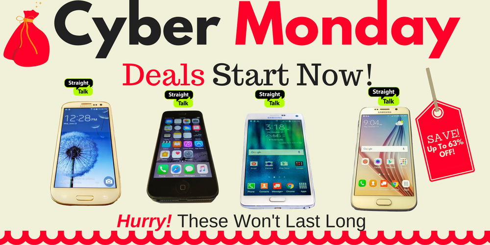 2016 Cyber Monday / Week Discounts for Straight Talk Phones Available Now