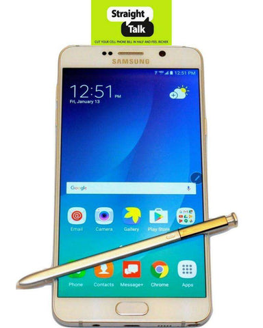 Samsung Galaxy Note 5 phone for Straight talk with stylus