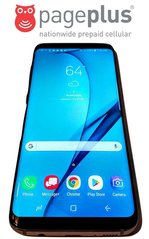 Samsung Galaxy S8 for Pageplus no contract verizon prepaid phone