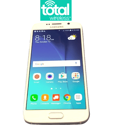 Total Wireless Samsung Galaxy S6 (Verizon Towers) 32GB-64GB - Refurbished