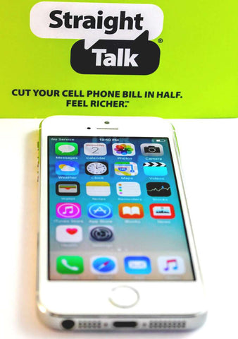 Straight Talk iPhone 5s - Silver / White AT&T 4G LTE