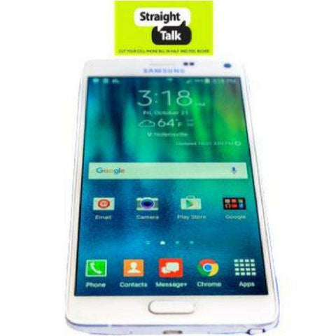 Straight Talk Phone Samsung Galaxy Note 4 IV - N910V - Exclusive Offer- Refurbished