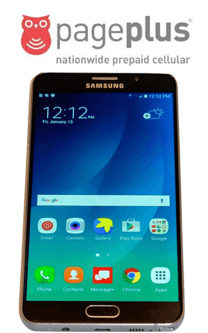 Pageplus Samsung Galaxy Note 5 Prepaid no contract unlimited phone