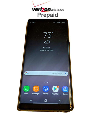 Verizon Prepaid Samsung Galaxy Note8 No contract smartphone 4G huge screen