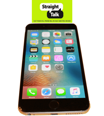 Straight Talk Apple iPhone 6+ Plus Space Gray no contract prepaid smartphone