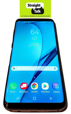 Straight Talk Samsung Galaxy S8 smartphone no contract prepaid refurbished