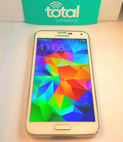 Samsung Galaxy S5 Total Wireless 16-32GB - Verizon Towers 4G LTE - Black or  White- Refurbished