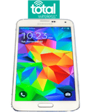 Total Wireless Samsung Galaxy S5 (SV) 16-32GB - Verizon Towers 4G LTE - White or Black - Refurbished
