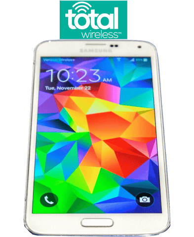 Total Wireless Samsung Galaxy S5 White