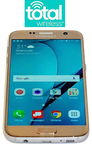 Refurbished Total Wireless Phone Samsung Galaxy S7 gold