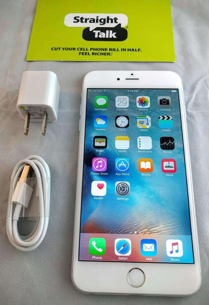straight talk iphone 6 apple iphone 6 plus 16gb white silver talk 16204
