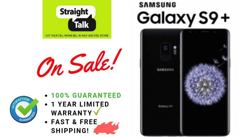 Samsung Galaxy S9+ PLUS for Straight Talk No Contract Prepaid phone