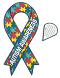 "2 Large Size Autism Awareness Ribbon Car Magnets 8"" X 4"" [2 Pack]"