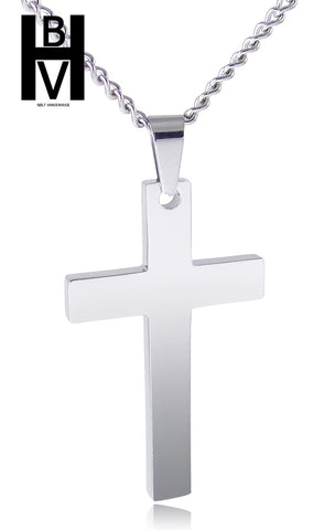 Simple Cross Men's Necklace