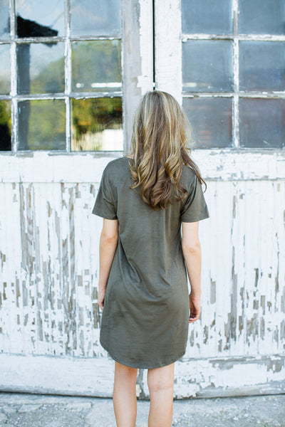 Sonya Suede Dress